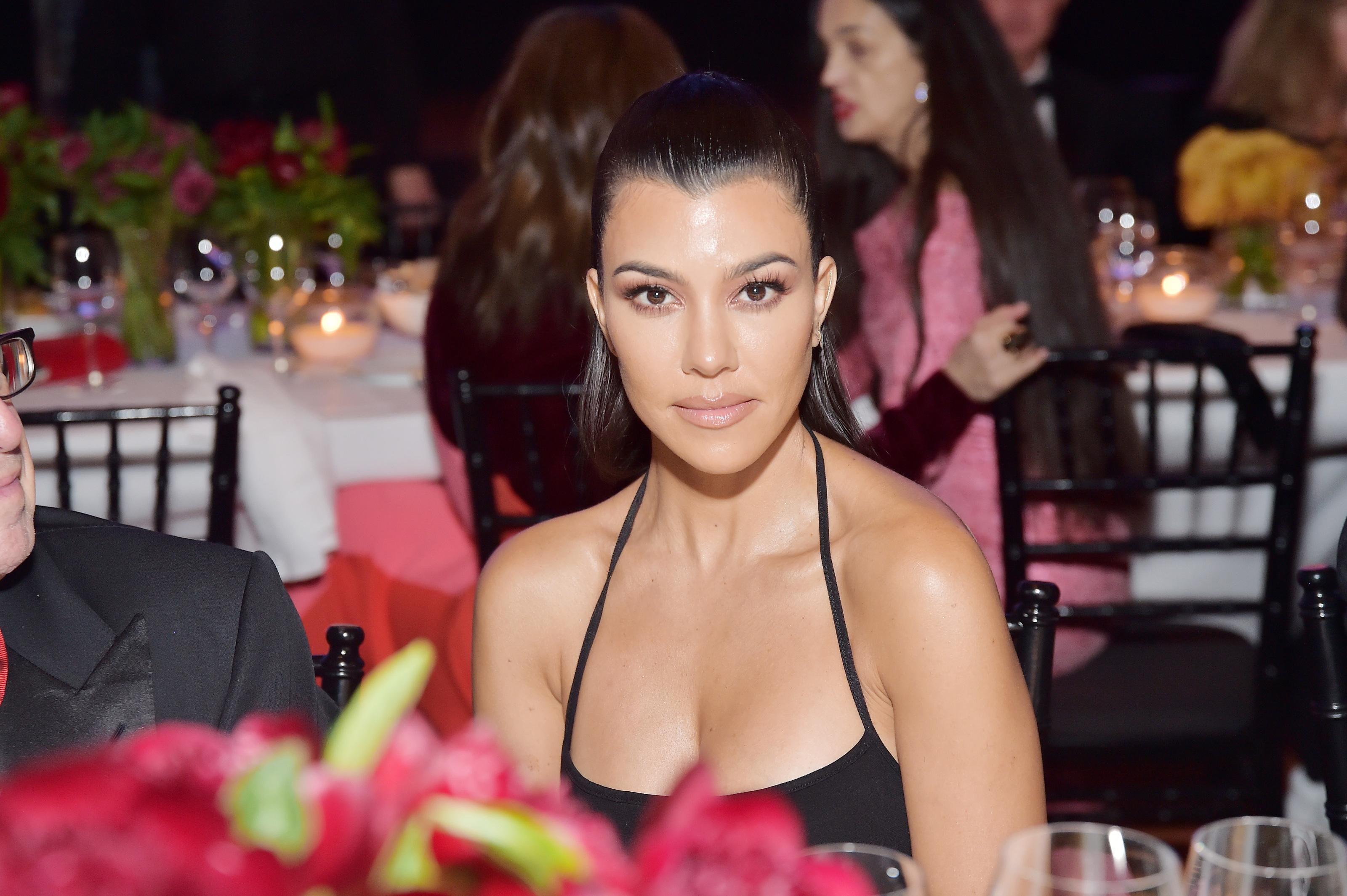 Marvelous Kourtney Kardashian Celebrates Birthday With Rainbow Explosion Funny Birthday Cards Online Fluifree Goldxyz